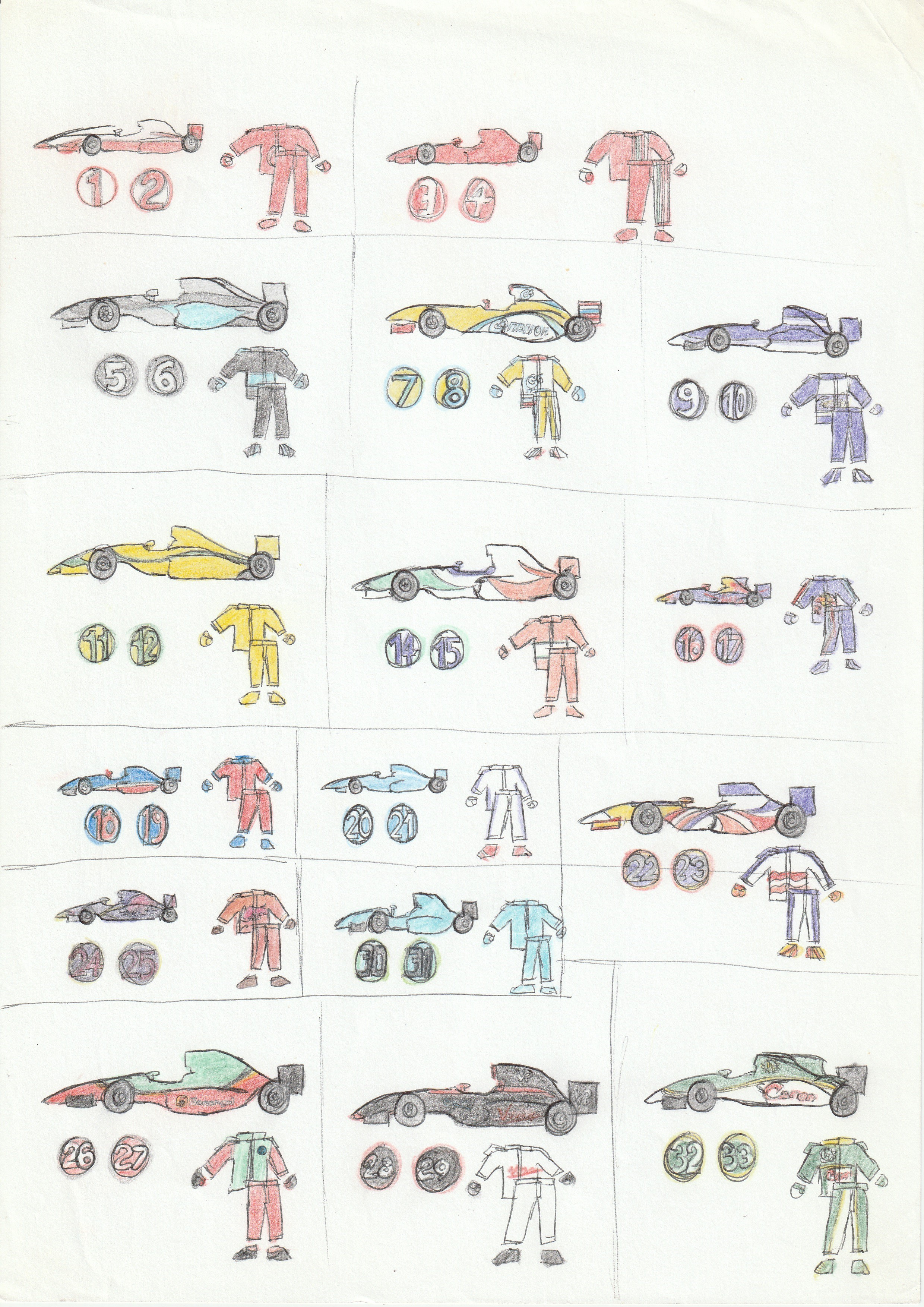 F1 car liveries      and overalls