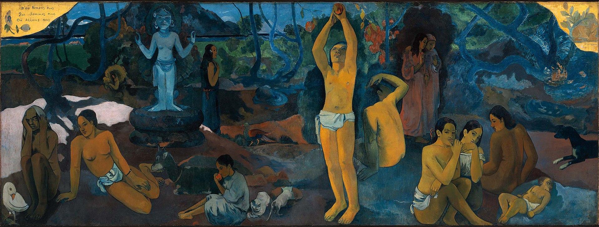 D'où venons-nous? Que sommes-nous? Où allons-nous?      by Paul Gauguin, 1897‒1898.